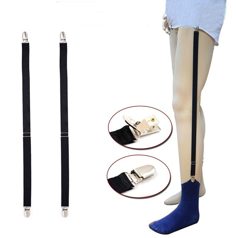 Elastic Suspenders Socks Garters Belts For Men Adjustable Shirt Stays Men Garter Straps Black Sock Suspender Clothes Accessories