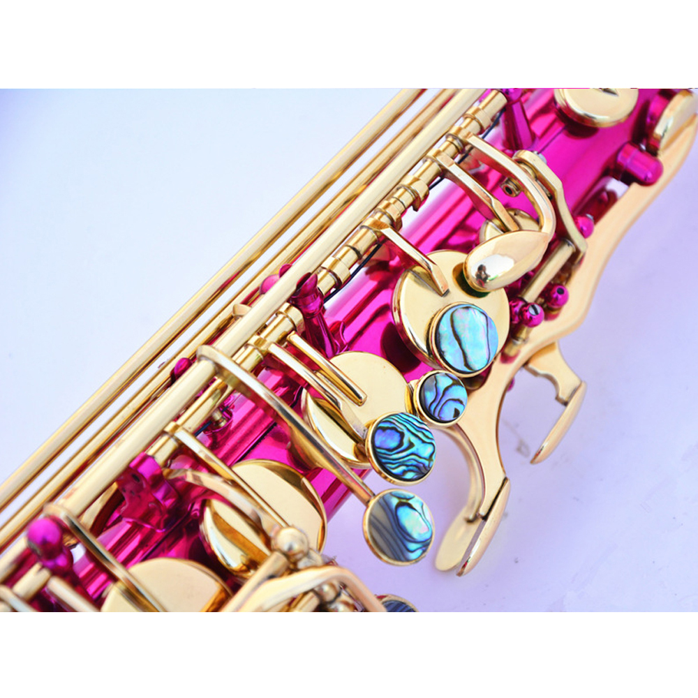 Hot Sale E flat Alto Saxophone 802 bond type Rose Red Gold Sax Playing Musical Instruments Brass Top Quality Saxofon Gift SAX07 - 4
