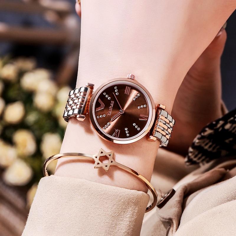Rose Gold Watch Women Watches Ladies Stainless Steel Women's Bracelet Watches Female Clock Relogio Feminino Montre Femme 2020
