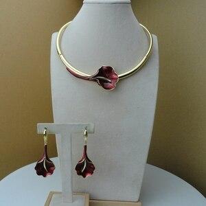 Image 1 - Yuminglai Dubai Fine Jewelry Beautiful Rose Flower Jewelry for Women  FHK9553