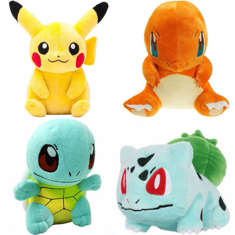 Cartoon Pikachu Detective Anime Movie Plush Doll Soft Good Quality Claw Machine Doll Sale Toys For Children Gift