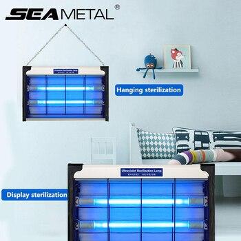 20W UV Sterilizer UVC Quartz Light Tube Ozone Sterilizer Wall Hanging Disinfection Bacterial Lamp Germicidal Light Kill Mites