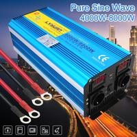 8000W pure sine wave power inverter DC 12V/24V TO AC 220V/230V/240V with Dual LED Display 3.1A USB