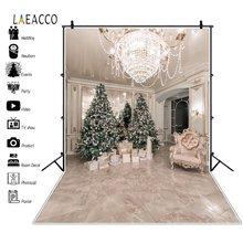 Laeacco Рождественская елка подарки диван люстра Декор интерьера