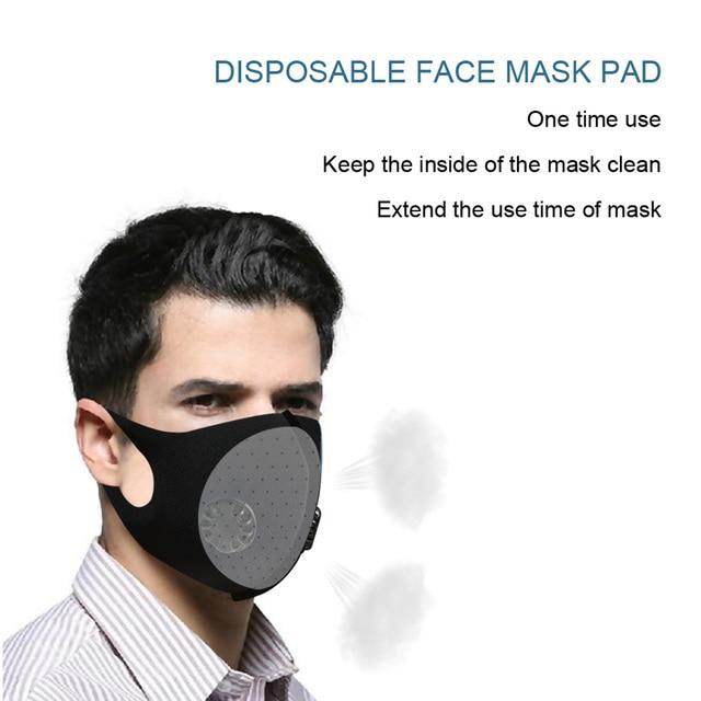 Universal Anti Dust Double Breathing Valve Outdoor Sponge Mouth flu Mask Filter Pad Black Travel Latest Masks 1