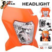 Universal motocicleta h4 farol lâmpada de cabeça luz para ktm exc exc xcw xcf xcfw mx egs sx sxs smr 125 250-500 2018 2019