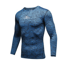 Gym Shirt Men Dry Fit T-Shirt Sportswear Compression Fitness Long-Sleeved  Mens Running Workout Shirts Athletic Tracksuits
