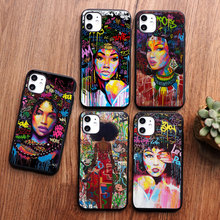 Black Girl Magic Melanin Poppin Queen art phone Case For iPhone 11 pro max 6S 7 8 Plus 5S SE X XR XS MAX Silicone Soft TPU Cover babaite queen afro melanin poppin black girl phone cover for iphone x xs xr xsmax 7 7plus 8 8plus 6 6s 5 5s se 11 11pro 11promax