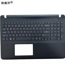 Клавиатура для SONY VAIO SVF152 FIT15 SVF15 SVF153 SVF15E белый/черный США ноутбук C оболочка Упор для рук крышка