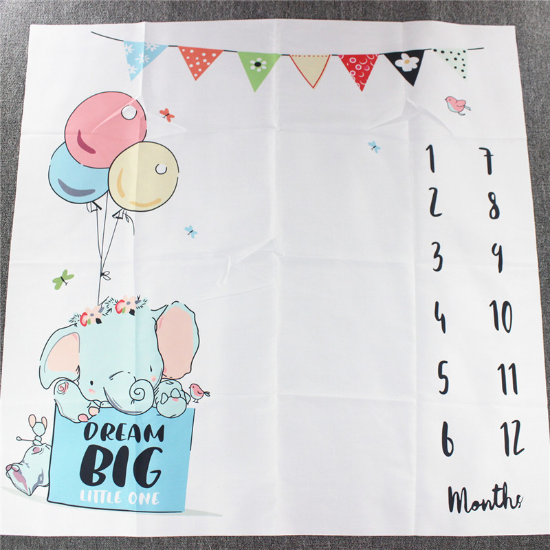 Cute Multi-Function Baby Play Mats Infant Portray Blanket Bed Room Wall Decor Background Blankets Baby Milestone Photo Props | Happy Baby Mama