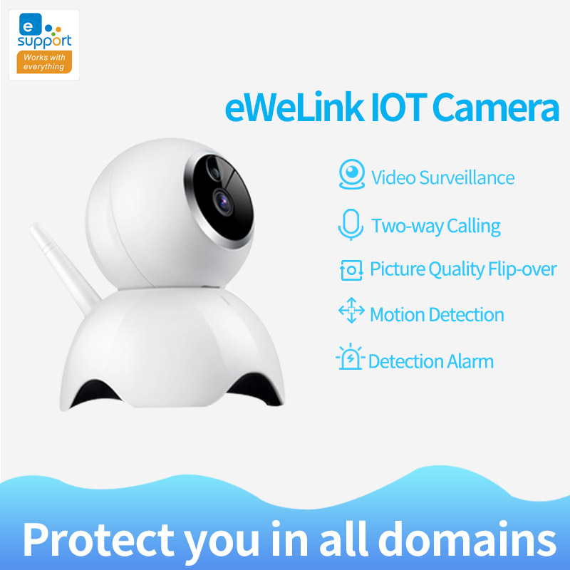 eWeLink IP Camera Smart IOT HD Camera reomotely viewing by mobile phone two-way 360 panoramic camera for home security