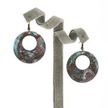 Fashion Big round copper metal Drop earring jewelry for women