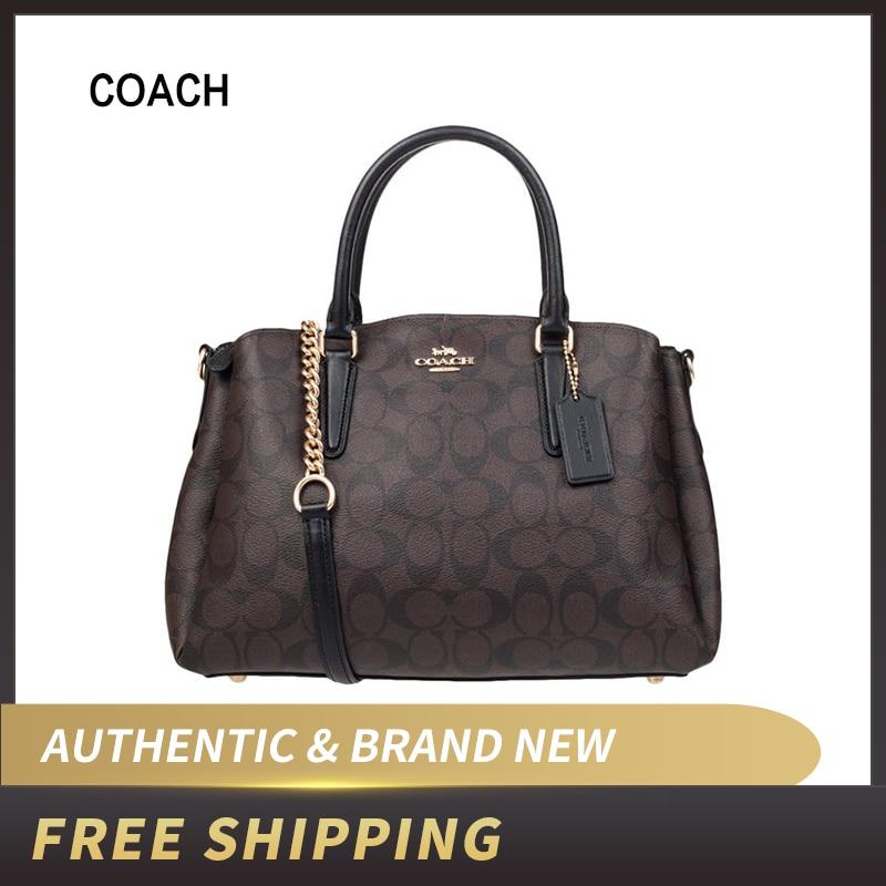 Coach F29683 Signature Canvas Sage Crossbody Carryall Handbag