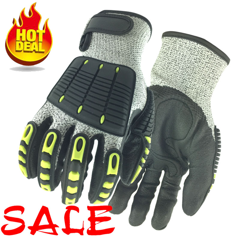 NMSafety Cut Resistant Glove Anti Impact Vibration Oil TPR Safety Working Gloves Anti Cut Shock Mechanics Impact Resistant Glove