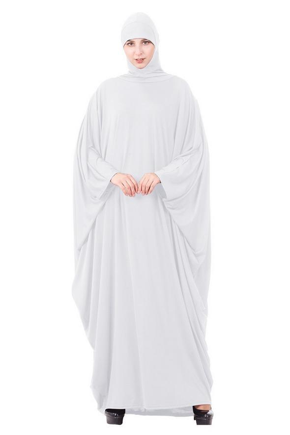 Muslim Hijab Dress Loose Kaftan Maxi Robe For Women Prayer Garment Arab Jilbab Solid Color Full Cover Worship Service Gown New