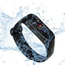 Banda inteligente de fitness trcker m4 esporte pulseira pedômetro freqüência cardíaca pressão arterial bluetooth saúde wirstband smartband à prova dwaterproof água