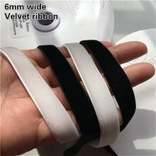 6 мм широкая многофункциональная бархатная кружевная отделка