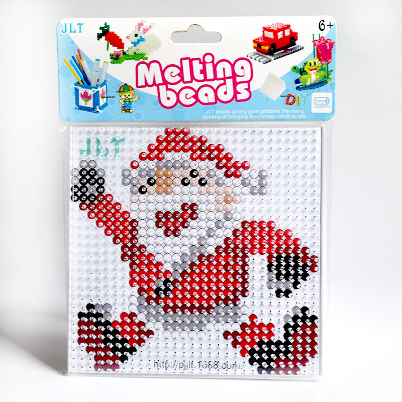 Perler Beads Kit 5mm Hama Beads Christmas Set With Pegboard And Iron 3D Puzzle DIY Toy Kids Creative Handmade Craft Toy Gift
