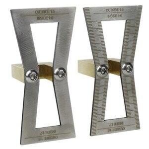 2 шт. ласточкин хвост маркер 1:5 & 1:6 & 1:7 & 1:8 измерительная деталь образец руководства для ручной резки древесных суставов склонов чертежник-гр...