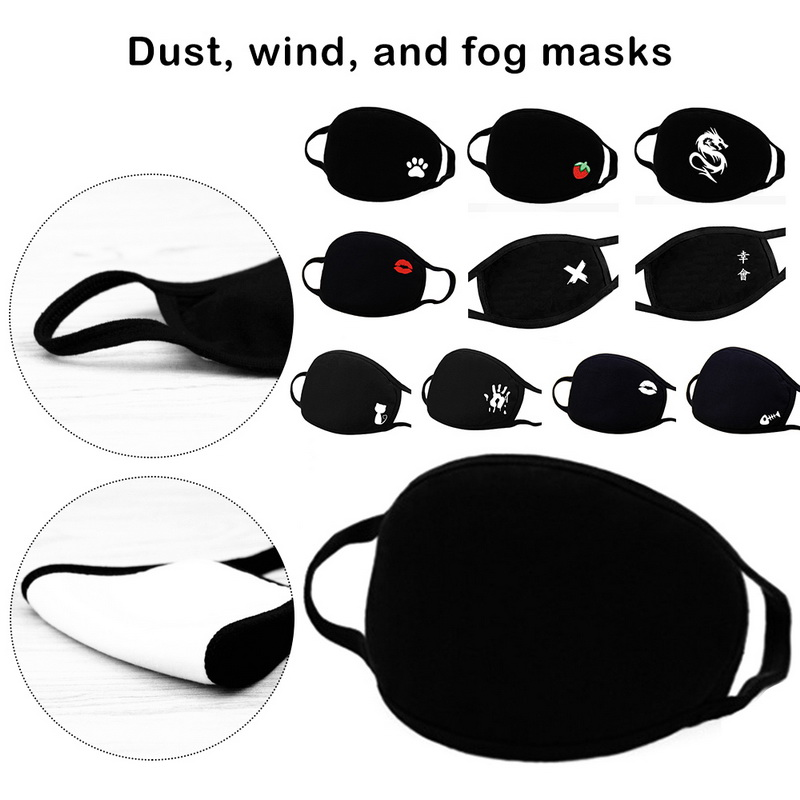 Simple Cotton Mask 2020 Masque Unisex Black Cycling Anti-dust Breathable Mouth Face Mask Bacteria Proof Face Mouth Mask