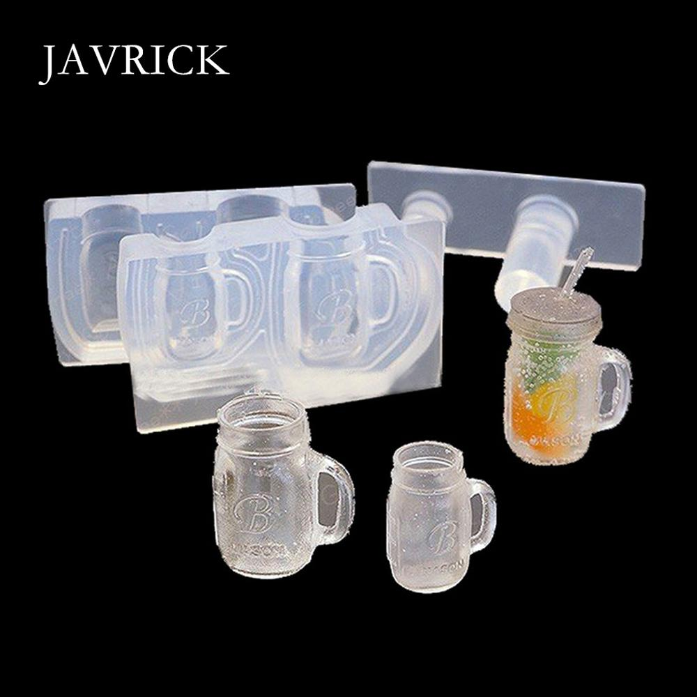 Drink Bottle Coffee Cup Honey Jar Resin Silicone Molds Epoxy Resin DIY Necklace Accessories Jewelry Making Tools
