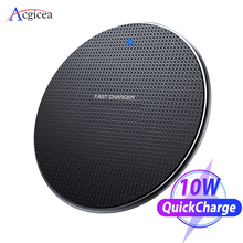 10W USB Qi Wireless Charger Pad for iPhone 11 Pro XS Max XR X 8 Plus Fast Wireless Charging for Samsung Galaxy S10 S9 Note 10