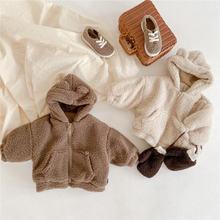 Модное шерстяное пальто для девочек Симпатичная плюшевая плотная