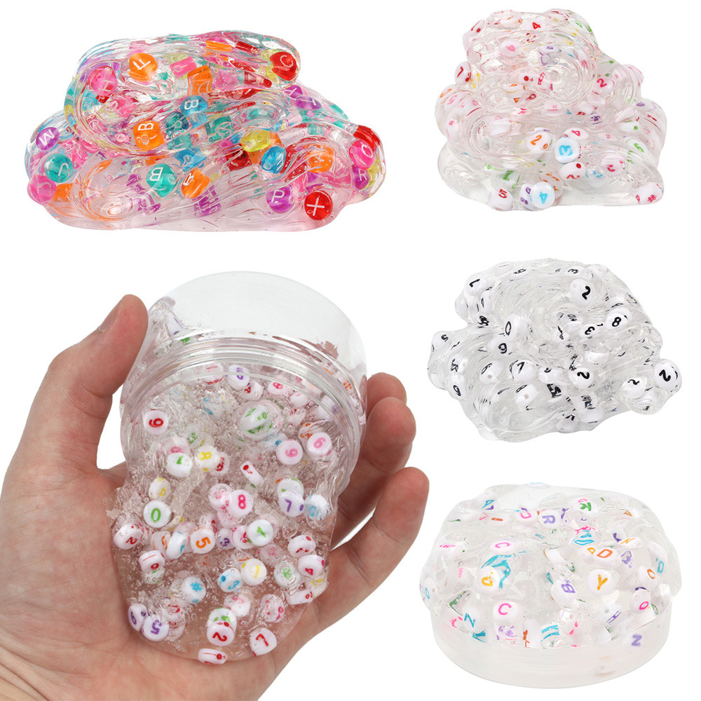 Alphanumeric Crystal Mud Vent Clay Toy Number Letter Mixing Cloud Slime Puttys Scented Stress Kids Clay Toy Funny Gift  L113