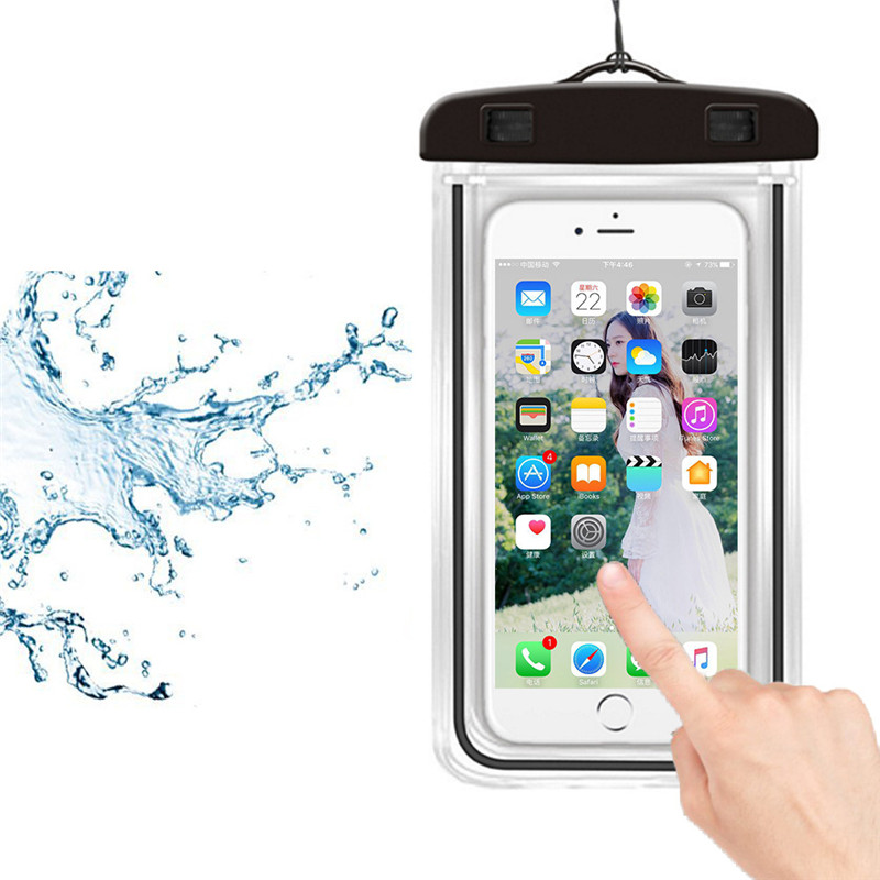 Swimming Bag Waterproof Phone Pouch Drift Diving Gadget Beach Underwater Dry Bag Phone Case Cover Water Sports Beach Pool Skiing
