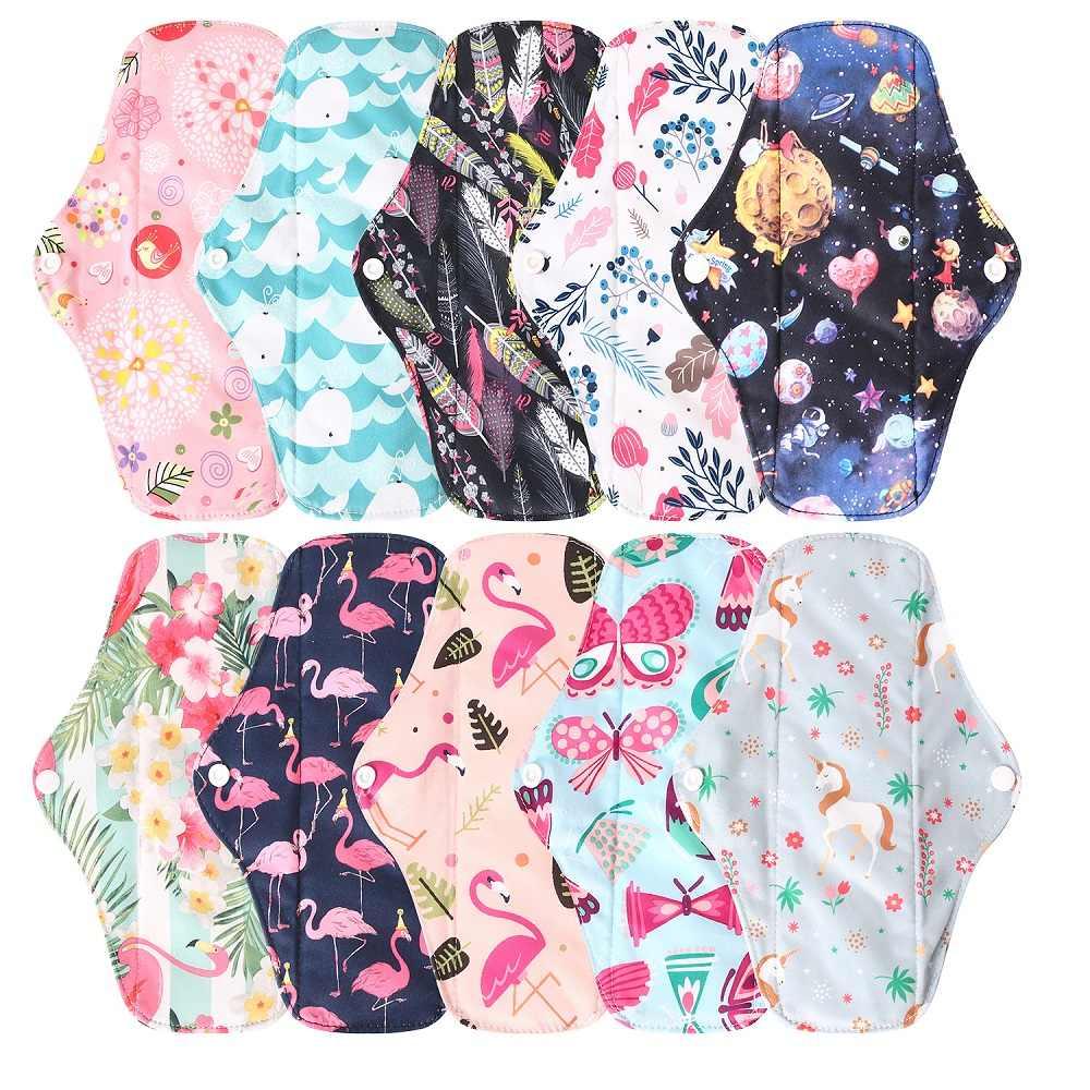 6 pçs pano almofada menstrual + 1 mini saco sanitário carvão de bambu feminino higiene calcinha forro reutilizável lavável toalhas orgânicas