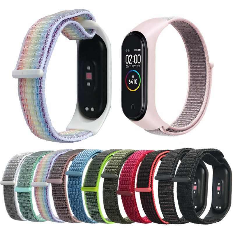 Cinturino in Nylon per Xiaomi Mi banda 4 3 sostituibile Braccialetto Mi band3 band4 coorea Wristband Traspirante Braccialetto per Xiomi Miband 3 4