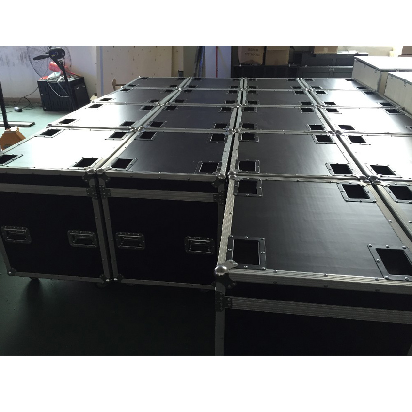 P5 And P10 Cabinet Flight Case Die Casting Aluminum 640mmX640mm Aluminium Die Casting Cabinet Package, 1 Pack 6 Flight Case