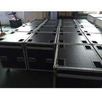 P5 and P10 cabinet Flight Case die casting aluminum 640mmX640mm aluminium die casting cabinet package, 1 Pack 6 flight case