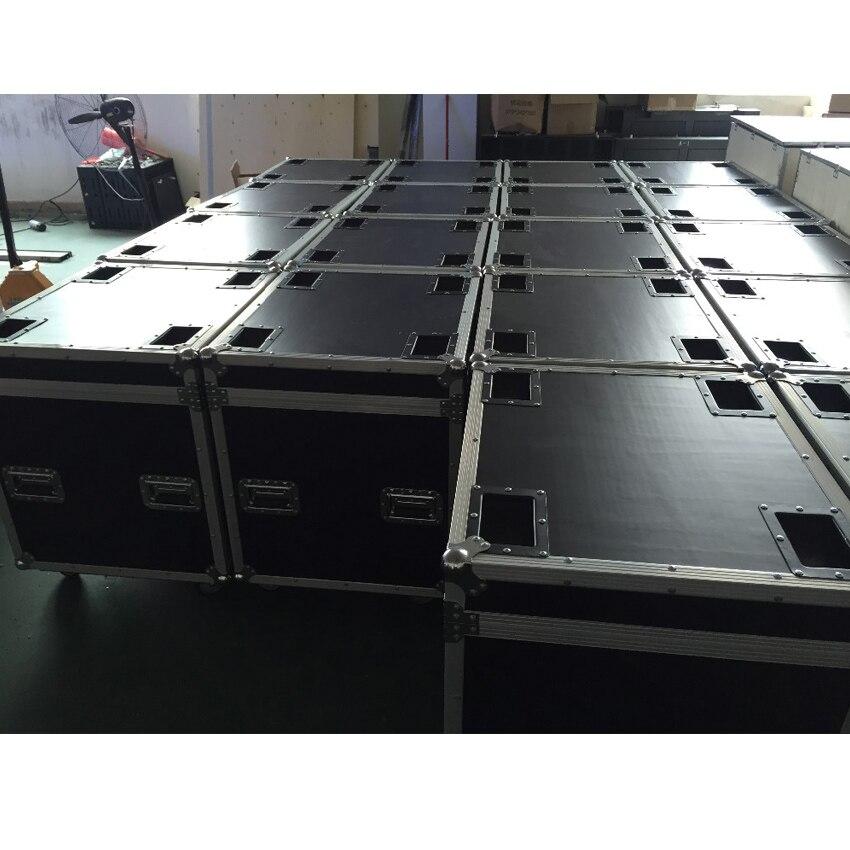 P5 et P10 coffret de vol en aluminium moulé sous pression 640mmX640mm aluminium boîtier de moulage sous pression, 1 Pack 6 Flight Case