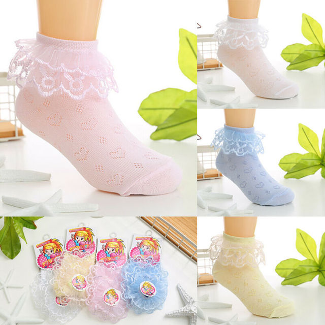 Toddlers Girls Lovely Lace Socks  3