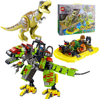 New Jurassic World Dinosaur Park Set Building Kits Blocks Tyrannosaurus Rex Machine Armor Model Bricks Toys for children Gifts