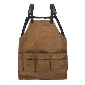 Tablier de travail professionnel tablier de travail toile cirée soudeuse vêtements de protection tablier Anti-saleté et résistant à l'usure avec paquet W/M
