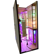DIY Book Nook Wooden Bookend Bookshelf Inserts Art Bookcase City Alley Building With Light Kit Craft Home Decor Birthday Gift