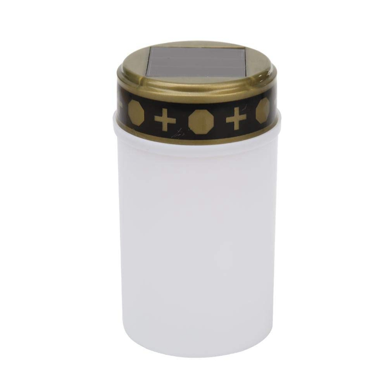 White Grave Candle For Cemetery Grave Solar Lights With Lighting Led Grave Light Limpid In Sight