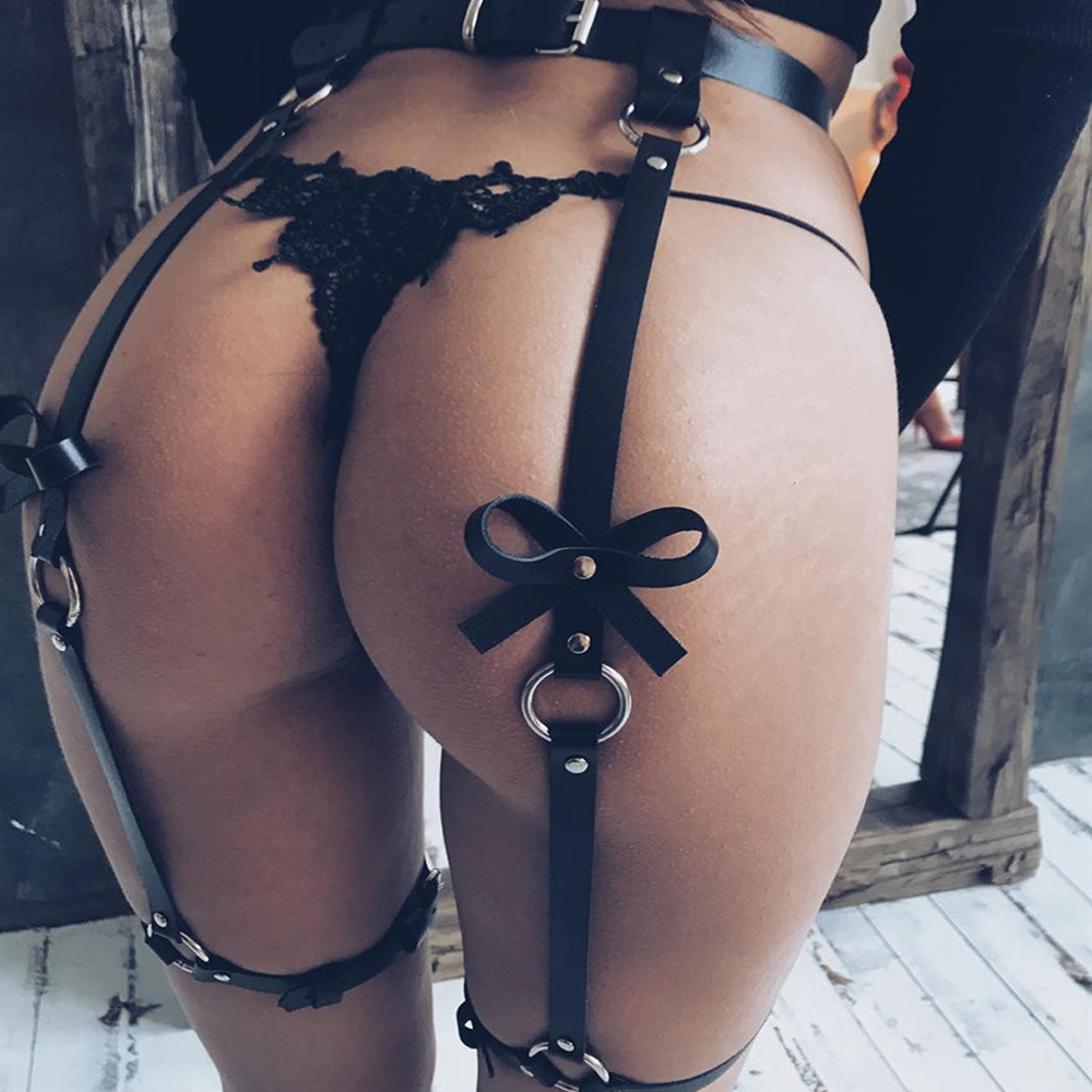 WKY Erotic Accessories Erotic Lingerie Bdsm Bondage Sex Toys For Woman Leather Leg Garter Body Strap Harness Belts Bridal Garter