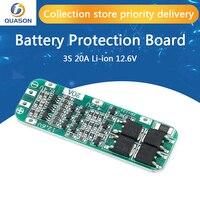 3S 20A Li-Ion Batteria Al Litio 18650 Caricabatterie PCB BMS Bordo di Protezione Per Il Motore del Trapano 12.6V Lipo Cellulare Modulo 64x20x3.4mm