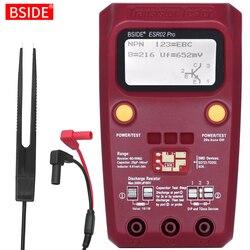 BSIDE ESR02PRO цифровой тестер транзисторов мультиметр SMD диодные компоненты Триод Емкость индуктивность Сопротивление Lcr ESR метр