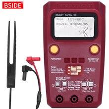 BSIDE comprobador de transistores Digital ESR02PRO, multímetro SMD, diodo para componentes, triodo, capacitancia, resistencia a inductancia, medidor Lcr