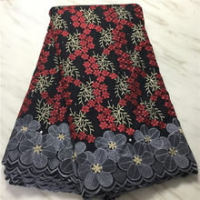 High Quality Swiss Voile Lace in Switzerland Dubai Fabric Hot Selling Tissu African Cotton Dry Lace Fabric Brocade Fabric 5Yards(China)