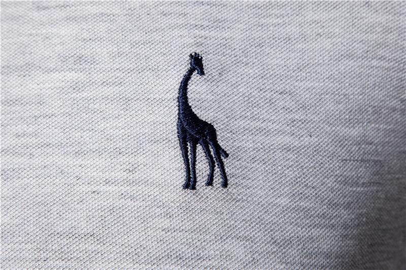 AIOPESON New Man Polo Shirt Mens Casual Deer Embroidery Cotton Polo shirt Men Short Sleeve High Quantity polo men 5