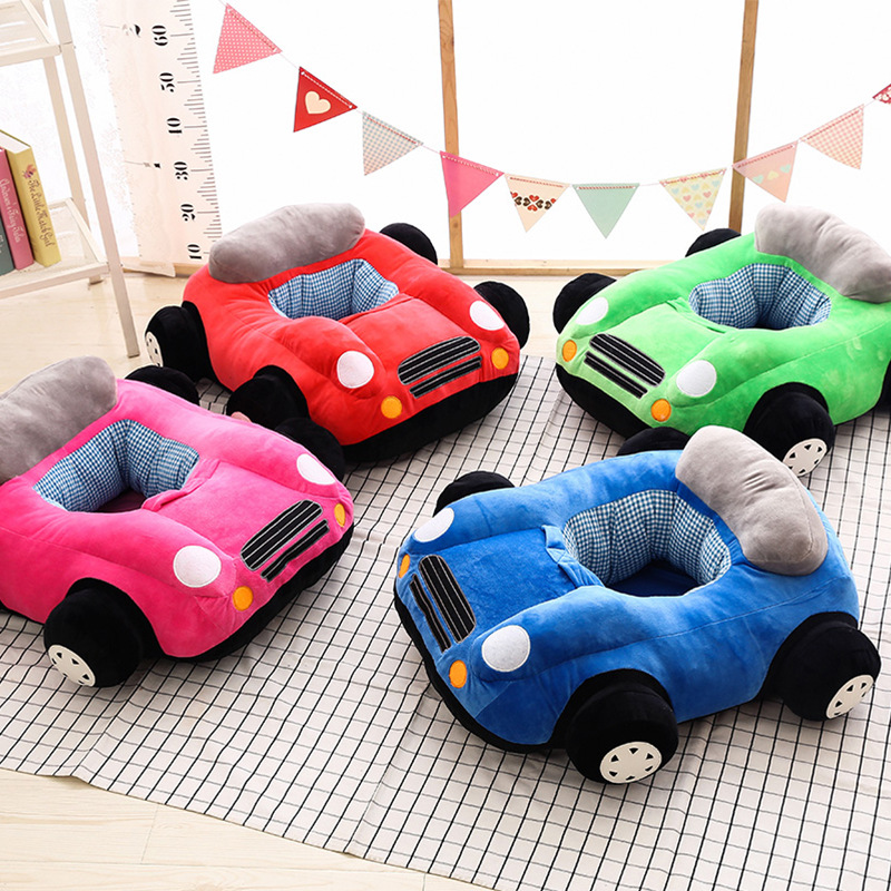 (Only The Cover )Children's Plush Support Seats Car Sofa Kids Cartoon Chair Baby Seatting Toy For Boys