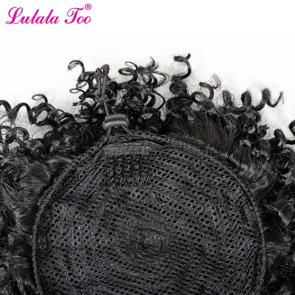 6 zoll Synthetische Verworrene Lockige Kordelzug Ananas Pferdeschwanz Perücke Gefälschte Haar Brötchen Chignon Pony Clip in Pony Schwanz Haar Verlängerung