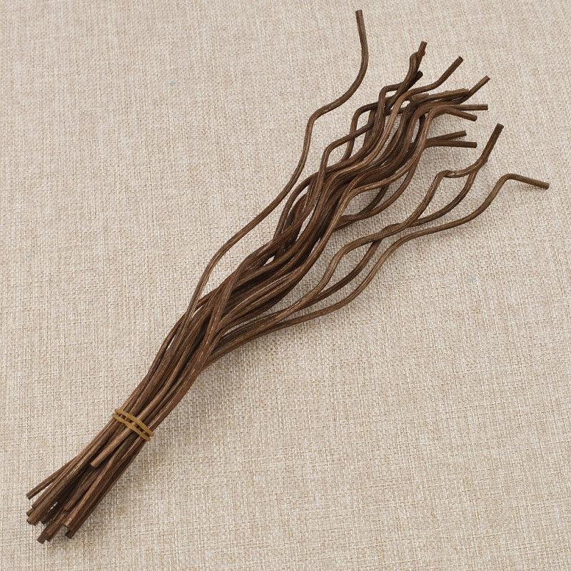 20x Rattan Fragrance Oil Diffuser Wavy Reed Wood Refill Sticks Accessory Decor