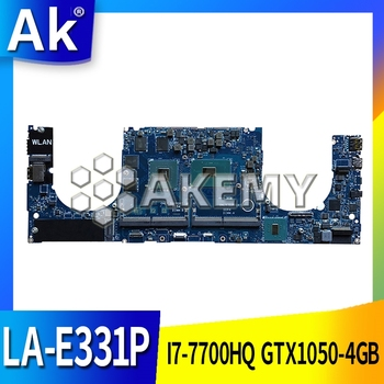 LA-E331P Laptop motherboard for Dell XPS-15 9560 original mainboard I7-7700HQ GTX1050-4GB