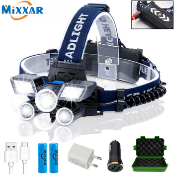 fenix hl23 150 lumens compact adventure proof led headlamp ZK20 LED Headlamp High Lumens LED Light Ultra Bright 9 Modes Headlight USB Rechargeable Flashlight Waterproof Working Fishing